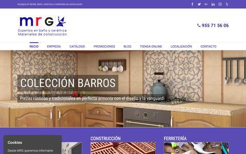 Screenshot of Home Page mrgsa.com - Azulejos en Sevilla, Baño, Cerámica y Materiales de Construcción - captured Oct. 2, 2017