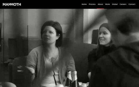 Screenshot of About Page mammoth.tv - Mammoth - Branding, Graphic Design, Digital Design, Website Design and Advertising in Belfast - captured May 27, 2017