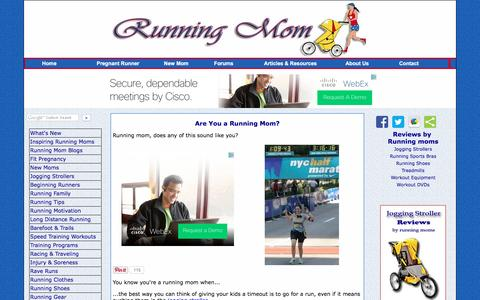 Screenshot of Home Page running-mom.com - Running Mom, Share Your Passion with Your Newborn - captured June 13, 2016