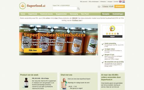 Screenshot of Home Page superfood.nl - Sinds 2001 vooraanstaand in Superfoods en Gezonde Levensstijl - Superfood.nl - captured July 21, 2017