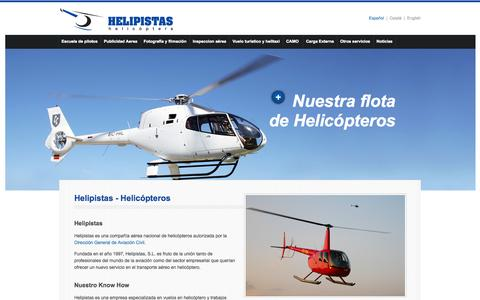 Screenshot of Home Page helipistas.com - Helipistas - Vuelos en helicóptero, servicios aéreos y escuela de vuelo - captured Oct. 1, 2014