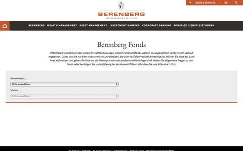 Berenberg Fonds - Berenberg