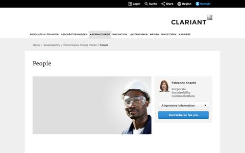 Screenshot of Team Page clariant.com - People - captured May 11, 2018