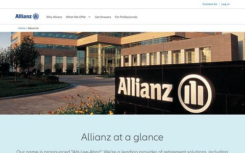 Screenshot of About Page allianzlife.com - Corporate facts, mission, and vision   Allianz Life - captured Sept. 28, 2019