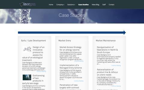 Screenshot of Case Studies Page inorgen.com - Case Studies   Inorgen - captured Sept. 30, 2014
