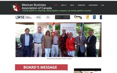 Screenshot of Home Page asocmex.com - Mexican Business Association of Canada - captured Nov. 28, 2016