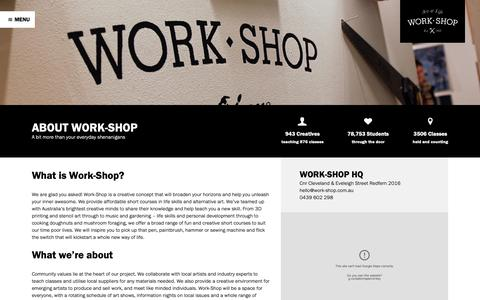 Screenshot of About Page work-shop.com.au - How We Roll - Work-Shop - captured Oct. 20, 2018