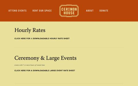 Screenshot of Pricing Page cerimonhouse.org - Pricing — Cerimon House - captured July 17, 2018