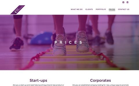 Screenshot of Pricing Page laura-kettle.com - Pricing | Laura Kettle PR - captured Oct. 29, 2016