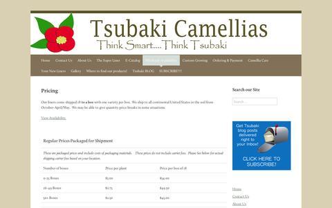 Screenshot of Pricing Page wordpress.com - Pricing   Tsubaki Camellias - captured Sept. 12, 2014