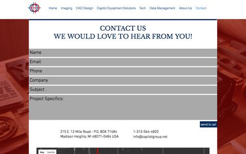 Screenshot of About Page Contact Page capitolgroup.net - Capitol Group |  Contact - captured Nov. 28, 2016