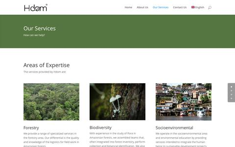 Screenshot of Services Page hdom.com.br - Our Services - Hdom Consultoria Ambiental - captured Nov. 4, 2016