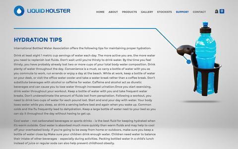 Screenshot of Support Page liquidholster.com - Support | Liquid Holster - captured Jan. 30, 2016