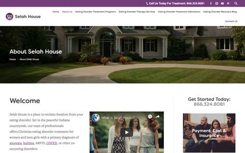 Screenshot of About Page selahhouse.com - About Selah House | Eating Disorder Treatment Center - captured Nov. 6, 2018