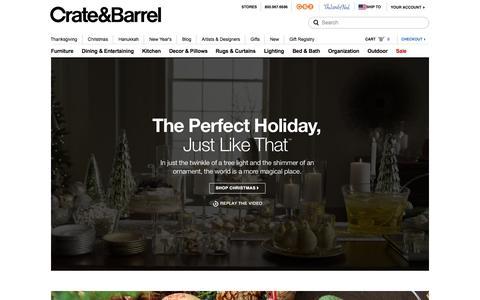 Screenshot of Home Page crateandbarrel.com - Furniture, Home Decor and Wedding Registry | Crate and Barrel - captured Nov. 11, 2015
