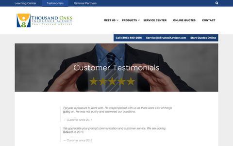 Screenshot of Testimonials Page etrustedadvisor.com - Customer Testimonials - eTrustedAdvisor - captured Oct. 18, 2018