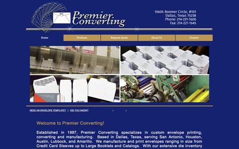 Screenshot of Home Page premierconverting.com - Premier Converting - captured May 21, 2017