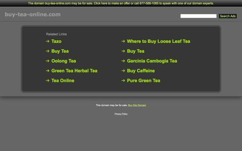 Screenshot of Home Page buy-tea-online.com - Buy-Tea-Online.com - captured Jan. 7, 2016