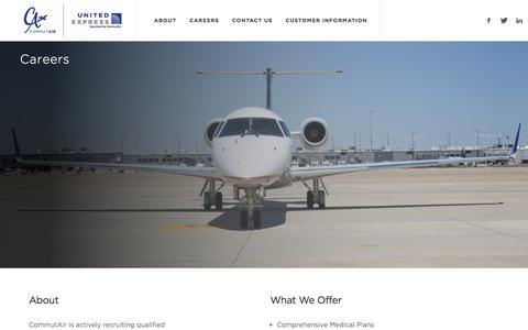 Screenshot of Jobs Page flycommutair.com - Careers   CommutAir - captured Aug. 17, 2017