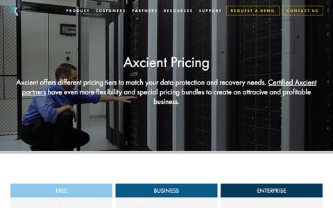 Axcient Pricing - Recovery-as-a-Service