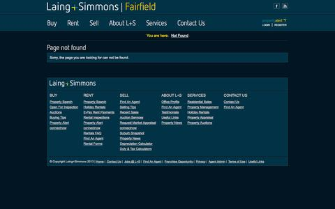 Screenshot of Services Page Terms Page lsfairfield.com.au - Page not found - captured Oct. 22, 2014