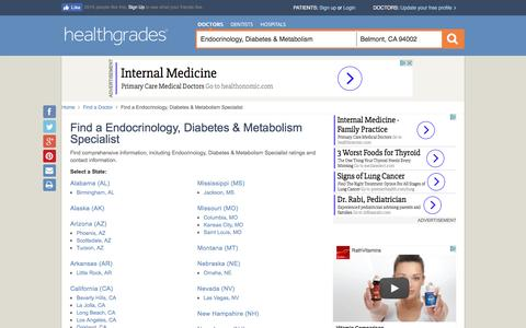 Endocrinology, Diabetes & Metabolism - State Directory