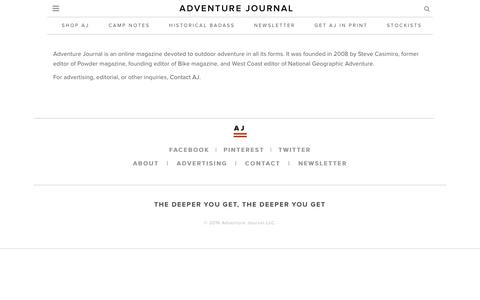 adventure journal   –  About