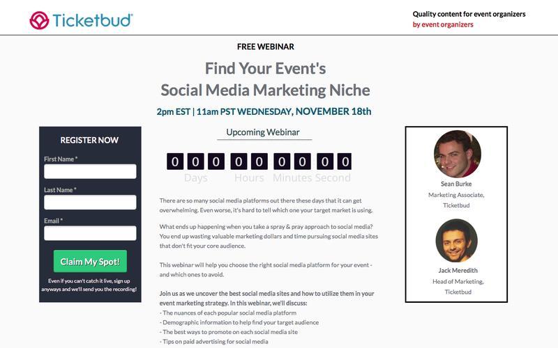 Ticketbud Webinars: FInd Your Event's Marketing Niche