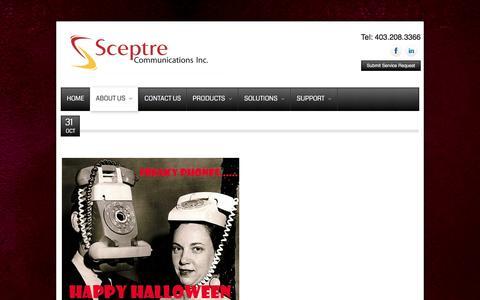 Screenshot of Press Page sceptreinc.ca - News - captured Feb. 4, 2016