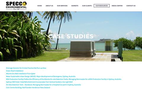 Screenshot of Case Studies Page speccoflorida.com - Case Studies | Specco Environmental - captured Oct. 20, 2018