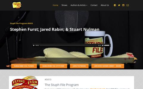 Screenshot of Home Page peteranthonyholder.com - peteranthonyholder.com | The Stuph File an eclectic show featuring interviews and odd news - captured June 28, 2017