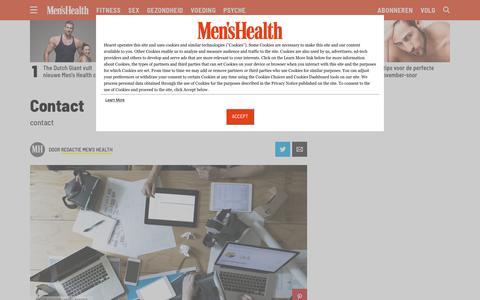 Screenshot of Contact Page menshealth.com - Contact - captured Nov. 8, 2018
