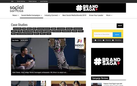 Screenshot of Case Studies Page socialsamosa.com - Social Media Marketing Campaign Case Studies India - captured Aug. 14, 2019