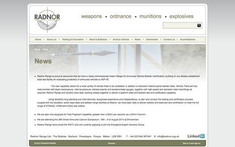 Screenshot of Press Page radnor.org.uk - News | Tactical Training | Radnor Range - captured Oct. 7, 2014