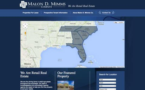 Screenshot of Home Page mimms.org - Malon D. Mimms - captured Oct. 4, 2014
