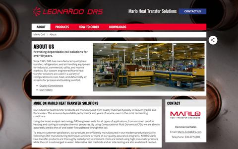 Screenshot of About Page marlocoil.com - Marlo Coil About Page | Marlo Heat Transfer Solutions - captured Oct. 11, 2017