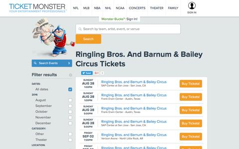 Ringling Bros. And Barnum & Bailey Circus Tickets - Cheapest Tickets Lowest Prices