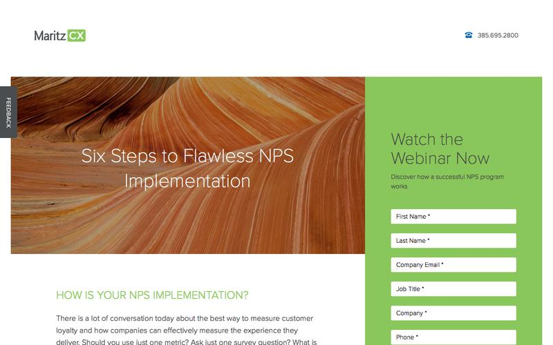 Six Steps to Flawless NPS Implementation | MaritzCX
