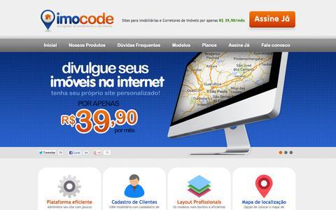 Screenshot of Home Page imocode.com.br - Imocode - Site para Imobiliárias por R$ 39,90 - captured Sept. 11, 2015