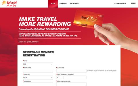 Screenshot of Signup Page spicejet.com - Cheap Air Tickets Online, International Flights to India, Cheap International Flight Deals | SpiceJet Airlines - captured June 20, 2017