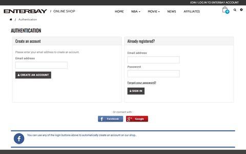 Screenshot of Signup Page enterbay.com - Login - ENTERBAY - captured July 10, 2017