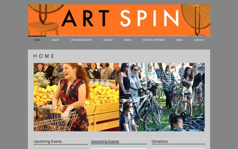 Screenshot of Home Page artspin.ca - Art Spin - captured July 26, 2016