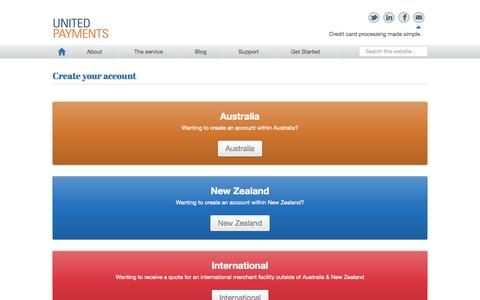 Screenshot of Signup Page unitedpayments.com - Create your account - United Payments - captured Oct. 9, 2014