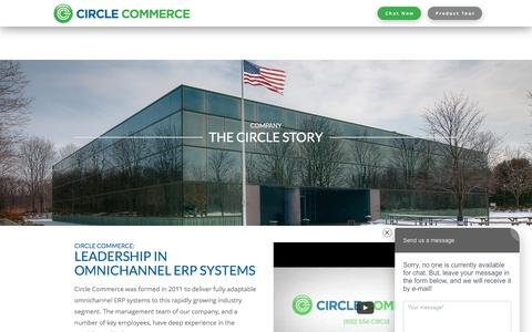 Screenshot of About Page circlecommerce.com - Leading ERP/Order Management Systems | Circle Commerce - captured June 7, 2017