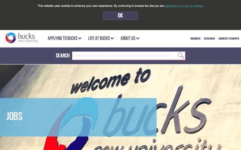 Screenshot of Jobs Page bucks.ac.uk - Jobs   Buckinghamshire New University - captured Oct. 8, 2017