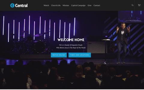 Screenshot of Home Page centralcc.ca - Central Community Church - Central Community Church - captured Jan. 26, 2016