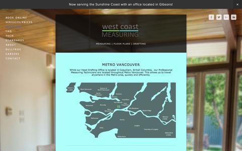 Screenshot of Locations Page westcoastmeasuring.com - location — West Coast Measuring - captured Dec. 15, 2016