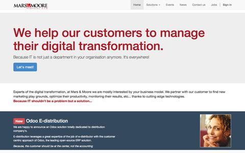 Screenshot of Home Page marsmoore.com - Mars & Moore | Digital Transformation - captured Feb. 3, 2016