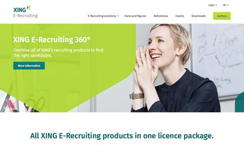 Screenshot of xing.com - E-Recruiting with XING ✓ Find the best candidates! - captured Sept. 16, 2017