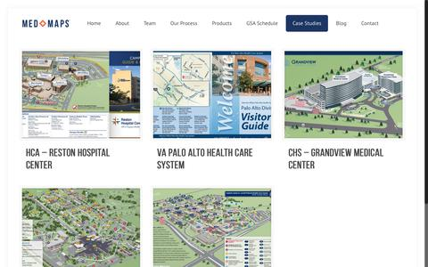 Screenshot of Case Studies Page medmaps.com - Case Studies - Med MapsMed Maps - captured Sept. 20, 2018